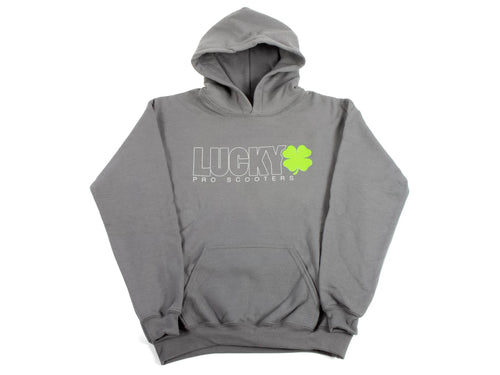 Lucky Youth Outline Logo Hoodie - Titanium