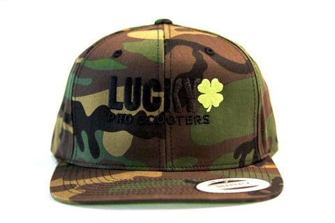 Lucky Solid Logo Snapback Hat Camo
