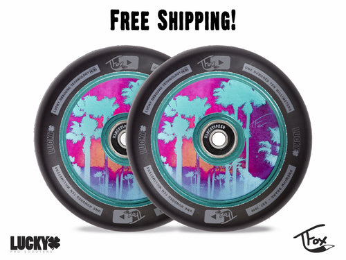 TFOX SIG 110MM TEAL SCOOTER WHEELS (Set of 2)