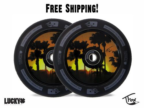 TFOX SIG 110MM BLACK SCOOTER WHEELS (Set of 2)