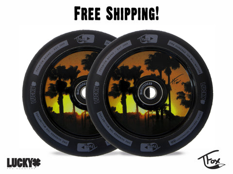 TFOX SIG SCOOTER WHEEL 110MM BLACK(Set of 2)