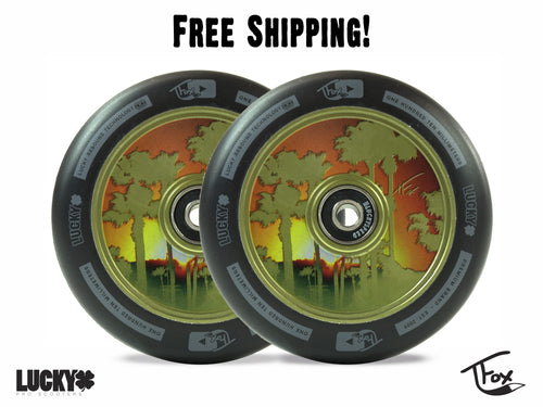 TFOX SIG 110MM GREEN SCOOTER WHEELS (Set of 2)