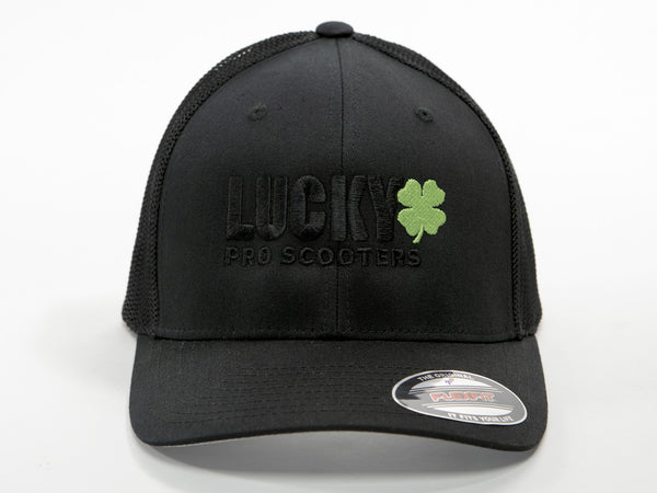 Lucky Mesh Back Hat Black Logo