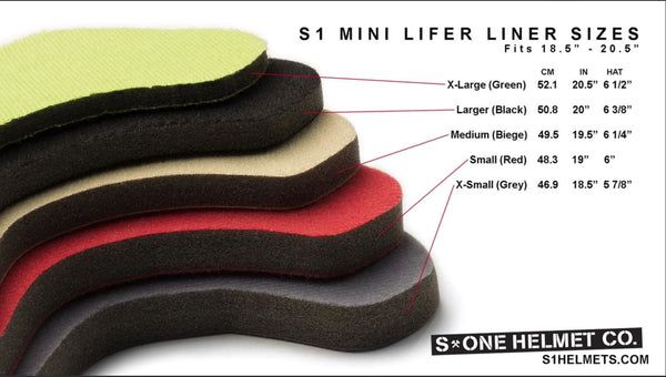 S1 Lifer Helmet Sizing liner
