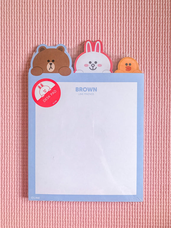 Line Friends Desk Pad Notepad Notebook