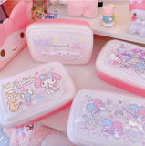 My Melody Portable Lunch Box Bento Box With Tableware Leak-proof Food Container
