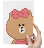 LINE Friends Choco A5 Drawing Notebook Notepad Journal