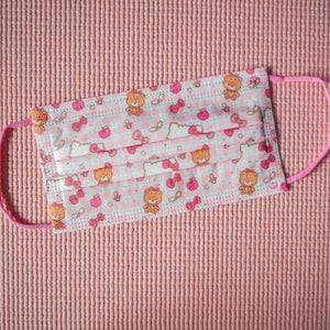 Hello Kitty Facial Mask Face Surgical Covering With Teddies