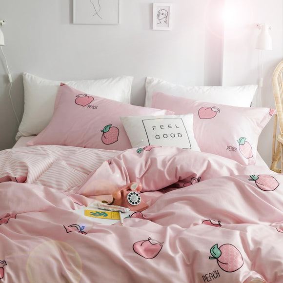 Peach Strawberry Bedding Set