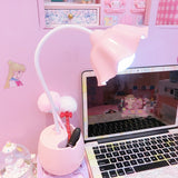 Flower LED Night Light Pen Pot Holder Bedroom Indoor Lighting Decor Lamp Pink