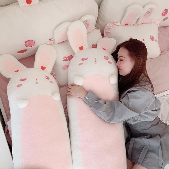 80~120cm Giant long Lolita Bunny Stuffed hug Pillow Pink Rabbit Girl Sleeping Throw Pillow Pregnant pillow Boyfriend Pillow