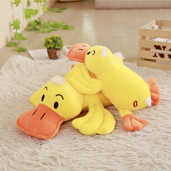 1pc 35cm/45cm/55cm/65cm Large Size Duck Plush Dolls Stuffed Soft Yellow Duck Pillow Cushion Cute Duck Toys Kids Birthday Gifts