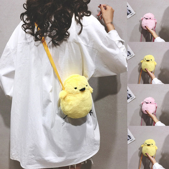 Plush Backpack Crossbody Bag Chicken Chick - Yellow or Pink