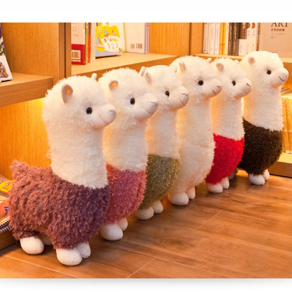 25cm New Alpaca Plush Toy 6 Colors Cute Animal Doll Soft Cotton stuffed doll Home office decor Kids girl Birthday Christmas Gift