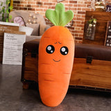 45-110cm Cartoon Plant Smile Carrot Plush toy Cute Simulation Vegetable Carrot Pillow Dolls Stuffed Soft Toys for Children Gift