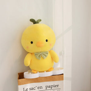Yellow Chick Chicken Plush Green Bowtie (up to 50cm)
