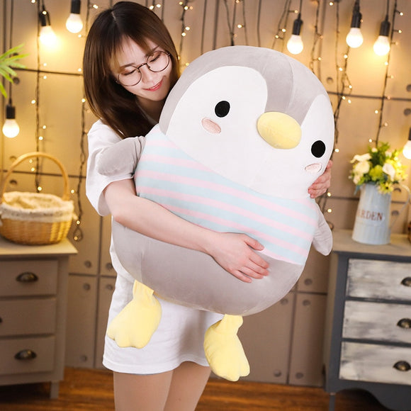 Big Penguin Plush White and Grey (up to 70cm)