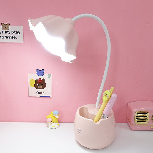 Cartoon Night Lights Flower Night Light LED Table Lamp For Children's Bedroom Decoration