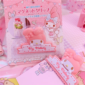 1PC Lovely Cartoon my melody magnet clip