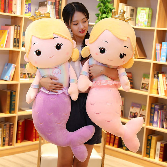 Mermaid Plush Different Colours and Sizes (up to 110cm tall)