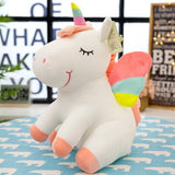 Angel Wings Unicorn Multicoloured White, Pink or Yellow 25cm Plush