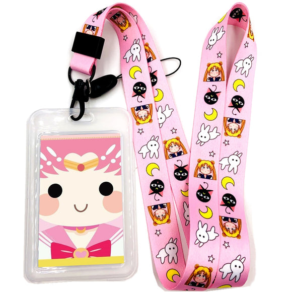 Sailor Moon Chibi Moon Lanyard Badge ID Holder