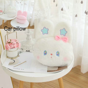 Blue Star Girly Bunny Plushie Toy Stuffed cartoon Pink Rabbit Crossbody Bag Bunny Hug Throw Car Pillow Birthday Gift For Girl