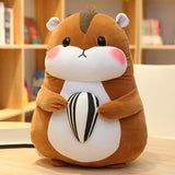 Squirrel Hamster with Nut Plushie Grey and Tan Brown