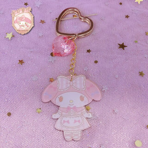 Japan Anime Melody PVC Keychain Cartoon Keyring Bags Pendant