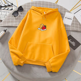 Gudetama Lazy Egg Harajuku Yolk Hoodie Sweatshirt White Strawberry