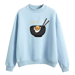 Lazy Egg Gudetama Sweatshirt Top Long Sleeve