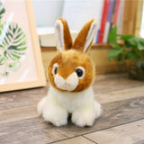 Bunny Rabbit Plush - Brown, Grey, White
