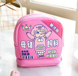 Cartoon Women Makeup Bag Leather Cosmetic Bags Organizer Box Lady Cute Travel Lipstick Toiletry Storage Wash Kits Case Pouch
