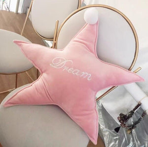 Candy Pink White Clouds Gold Dream Cloud Star Heart Moon Plush