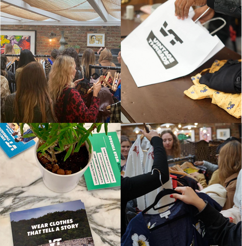Some snaps from our Shoreditch House clothes swap