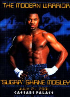 MOSLEY, SUGAR SHANE-ADRIAN STONE OFFICIAL PROGRAM (2001)