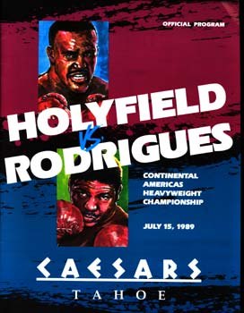 HOLYFIELD, EVANDER-ADILSON RODRIGUES OFFICIAL PROGRAM