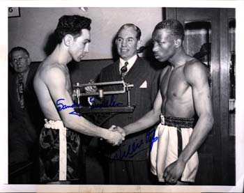 PEP, WILLIE & SANDY SADDLER SIGNED PHOTO