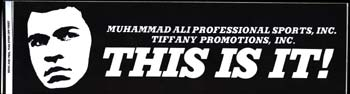 ALI, MUHAMMAD PROFESSIONAL SPORTS BUMPER STICKER