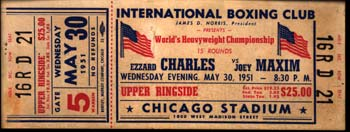 CHARLES, EZZARD-JOEY MAXIM FULL TICKET (1951)