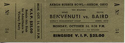 BENVENUTI, NINO-DOYLE BAIRD FULL TICKET (1968)
