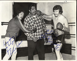 "LOPEZ, DANNY ""LITTLE RED"" & ALBERTO DAVILA SIGNED PHOTO"