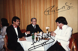 MONZON, CARLOS & ALEXIS ARGUELLO SIGNED PHOTO