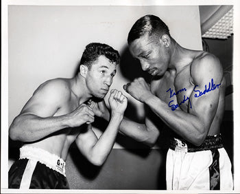 SADDLER, SANDY SIGNED WIRE PHOTO