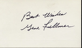 FULLMER, GENE SIGNED INDEX CARD