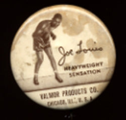 LOUIS, JOE VINTAGE ADVERTISING PIN