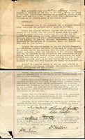LATZO, PETE & CHARLES JOHNSTON SIGNED CONTRACT