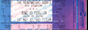 BOWE, RIDDICK-JESSE FERGUSON & ROY JONES, JR.-BERNARD HOPKINS FULL TICKET (1993)