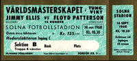 PATTERSON, FLOYD-JIMMY ELLIS FULL TICKET (1968)