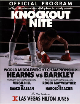 HEARNS, TOMMY-IRAN BARKLEY OFFICIAL PROGRAM (1988)